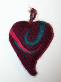 Felt Heart (side 2) by Ann Ranlett