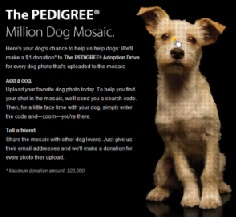 image from the Pedigree Million Dog Mosaic web site