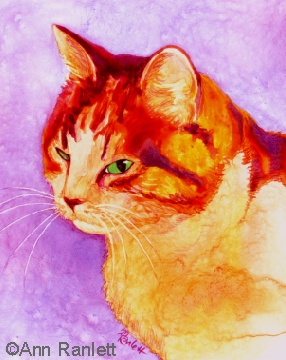 My painting of Kotex, titled Mango because of the colors I chose