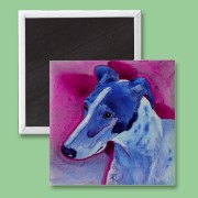 Blue Boy greyhound magnet now available on Zazzle
