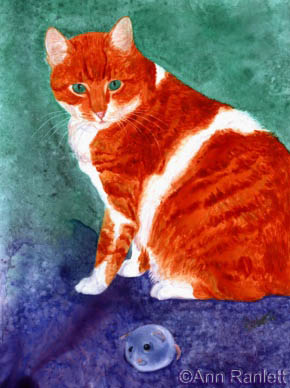 Oliver - watercolor portrait by Ann Ranlett