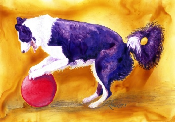 Annie, watercolor on Yupo by Ann Ranlett, ©2008