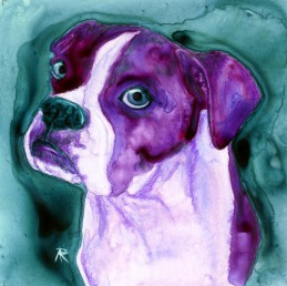 Not Me - watercolor painting by Ann Ranlett