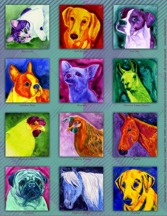 Ann Ranlett's Paintings with Petzazz fabric available at Colfax Cloth & Quilt Company